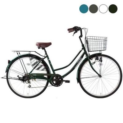 ママチャリ 自転車 カスタネット266 サイクルスポットオリジナル 6段変速