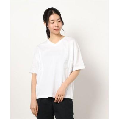 tシャツ Tシャツ 前後2wayロゴオーバーサイズTシャツ