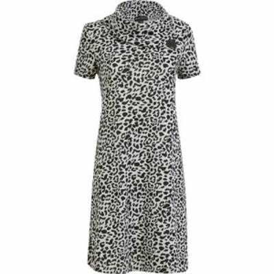 メラ ロンドン Mela London レディース ワンピース ワンピース・ドレス Grey Leopard Knitted Cowl Neck Dress Grey