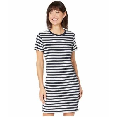 ラルフローレン ワンピース トップス レディース Sequined Short Sleeve Dress Lauren Navy/Mascarpone Cream