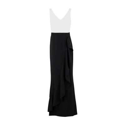 LAUREN RALPH LAUREN ロングワンピース&ドレス ブラック 0 ポリエステル 94% / ポリウレタン 6% ロングワンピース&ドレス