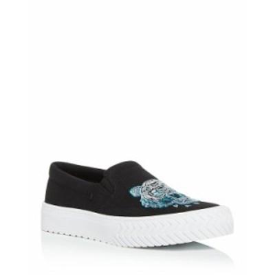 ケンゾー レディース スニーカー シューズ Women's K-Skate Embroidered Slip-On Sneakers Black