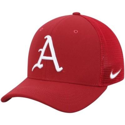 ユニセックス スポーツリーグ アメリカ大学スポーツ Arkansas Razorbacks Nike Performance Meshback Swoosh Flex Hat - Cardinal
