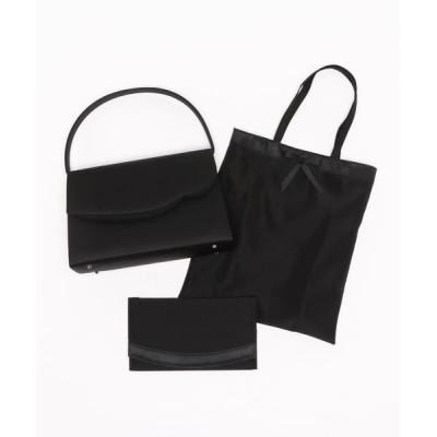 バッグ ハンドバッグ 【喪服用】ブラックバッグ 袱紗・サブバッグ付き