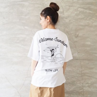 ベイクレスト Bay crest Tシャツ レディース メール便可 ピグメント PT プリントTシャツ 215821 半袖 プリント