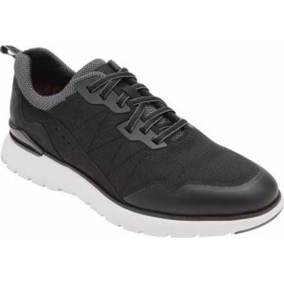 ロックポート メンズ スニーカー シューズ Total Motion Sport Mudguard Sneaker Black Leather/Mesh Trim