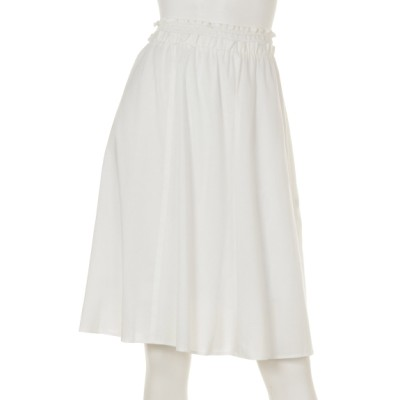 MICHEL KLEIN (ミッシェルクラン) レディース シャーリングギャザースカート ホワイト 38