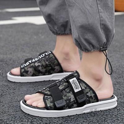 サンダル お洒落 歩きやすい ルームシューズ 夏 大人 紳士用 オシャレ スリッパ 父の日 アウトドア靴 カジュアル メンズシューズ ビーチサンダル