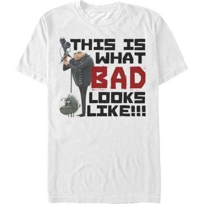 ミニオンズ Minions メンズ Tシャツ トップス Illumination Despicable Me Gru Bad Looks Like This Short Sleeve T-Shirt White