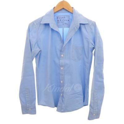Frank&Eileen ×Ron Herman 【BARRY】オープンカラーシャツ ライトブルー サイズ:XS (明石店) 190202