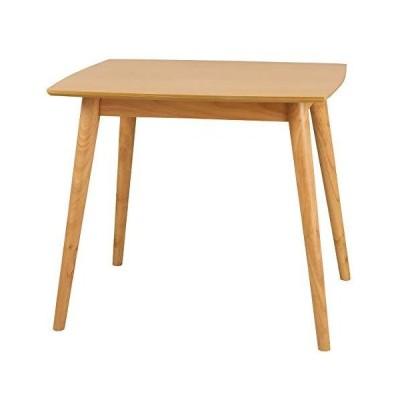 クロシオ ユーリ ダイニングテーブル 80 ナチュラル 2人用 テーブル 木製 幅80cm 007293