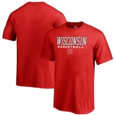 Fanatics Branded ファナティクス ブランド スポーツ用品  Fanatics Branded Wisconsin Badgers Youth Red True Sport Basketball T-Shir