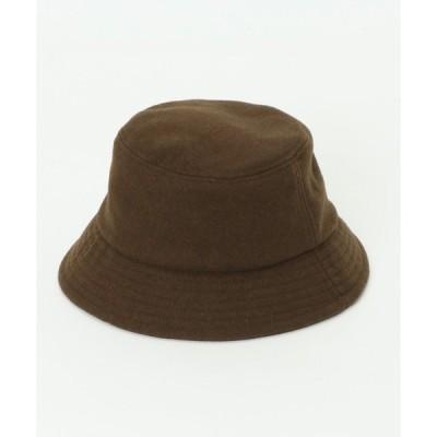 帽子 ハット ウール調バケットハット