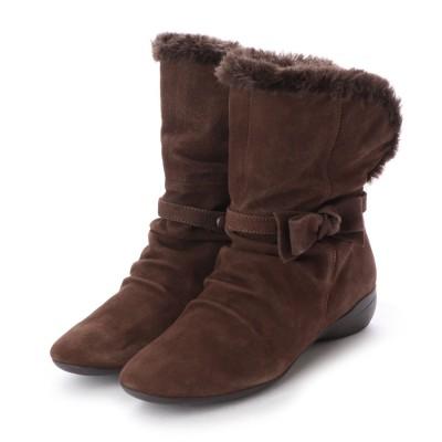 シューズラウンジ shoes lounge ショートブーツ 3016304DBRS (ブラウン)