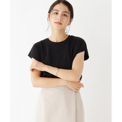 OPAQUE.CLIP(オペークドットクリップ) 【WEB限定サイズ】コーマ天竺 フレンチスリーブTシャツ