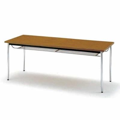 会議テーブル TDS・TDシリーズ TD 棚付 丸脚 幅1200×奥行き600×高さ700mm TD-1260TM