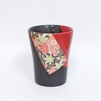 フリーカップ 赤友禅 陶器 マルチカップ おしゃれ アイスコーヒー 業務用 美濃焼 9a425-20-1g