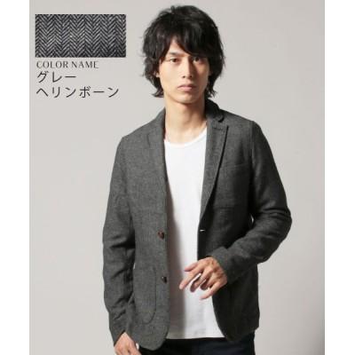【ザ カジュアル】 (スプ) SPU ツイードテーラードジャケット メンズ グレー系1 M THE CASUAL