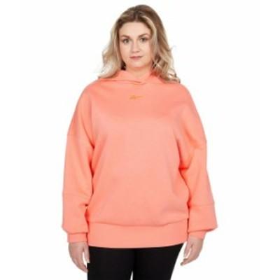 リーボック レディース パーカー・スウェット アウター Studio Fitness Sweatshirt Twisted Coral