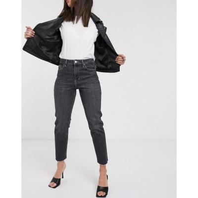 トップショップ Topshop レディース ジーンズ・デニム ボトムス・パンツ straight leg jeans in extreme washed black ブラック