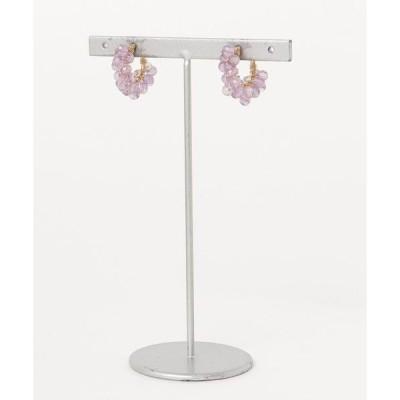 イヤリング 【marinaJEWELRY】Amethyst (light color) pavé earring