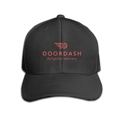 CUICAN メンズ & レディース Doordash ロゴ 顔料染め 調整可能 ジーンズ キャップ US サイズ: One Size