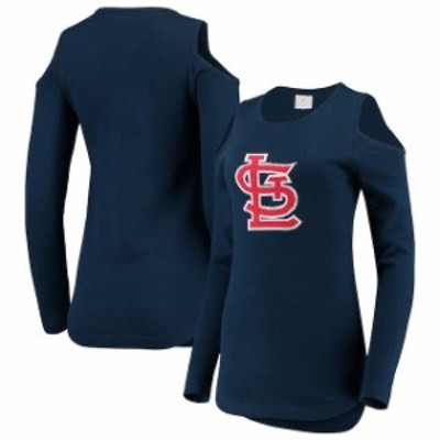Forever Collectibles フォーエバー コレクティブル 服 スウェット St. Louis Cardinals Womens Navy Logo Cold Shou