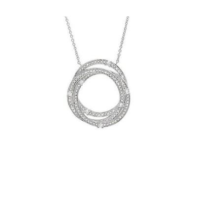 レディース アクセサリー  Crislu Platinum-Plated Silver CZ Necklace