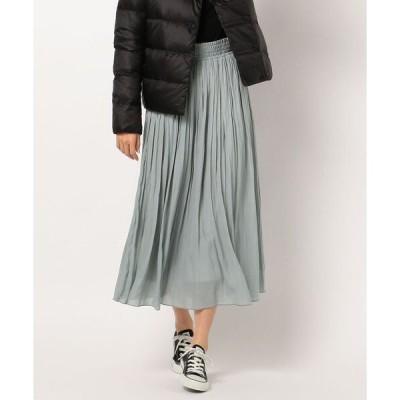 スカート 割繊ギャザースカート