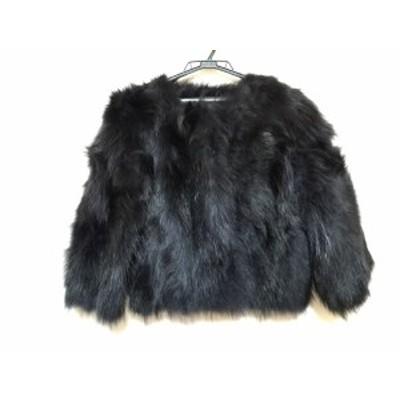 ローズバッド ROSEBUD コート サイズ1 S レディース 美品 - 黒 毛皮/長袖/ラクーン/冬【中古】20210129