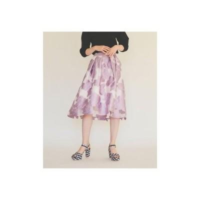 トランテアン ソン ドゥ モード 31 Sons de mode 花柄ジャガードスカート (ラベンダー)