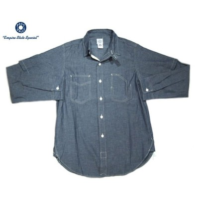 POST OVERALLS(ポストオーバーオールズ)/#3201B 1102 SHIRT-R + HALF COTTON CHAMBRAY SHIRTS(シャンブレーシャツ)/indigo