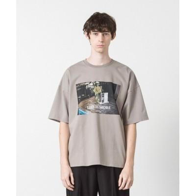 WEARSTAND / ドロップショルダープリントTシャツ MEN トップス > Tシャツ/カットソー