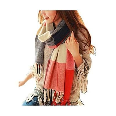 Loritta Womens Scarf Fashion Long Plaid Shawls Wraps Big Grid Winter Warm Lattice Large Scarves Gifts【並行輸入品】
