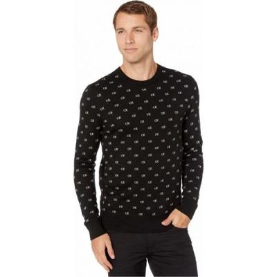 カルバンクライン Calvin Klein メンズ ニット・セーター トップス CK Logo Pattern Jacquard Black