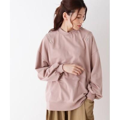 SHOO・LA・RUE / 【S-L】肩ジップバックロゴプリントプルオーバー WOMEN トップス > Tシャツ/カットソー