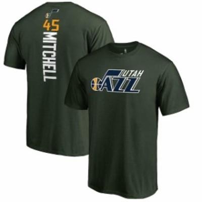 Fanatics Branded ファナティクス ブランド スポーツ用品  Fanatics Branded Donovan Mitchell Utah Jazz Green Team Backer Name & Numb