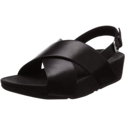 フィットフロップ コンフォートサンダル LULU Cross Back-Strap Sandals-Leather レディース Black