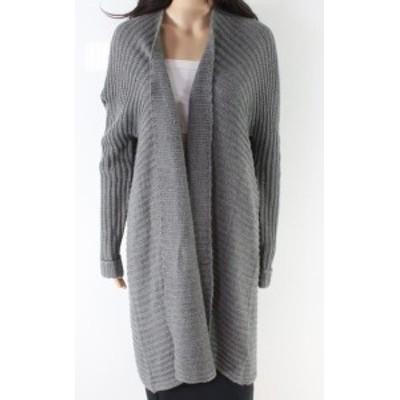 ファッション トップス Solutions! NEW Gray Womens Size Large L Knitted Open Cardigan Swater