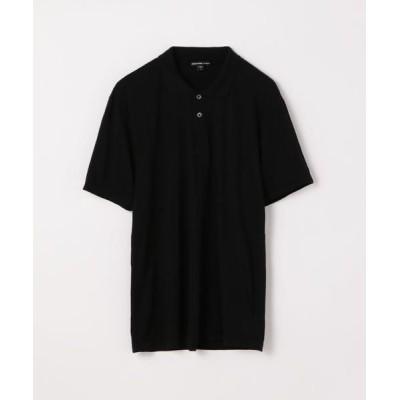 TOMORROWLAND/トゥモローランド リュクス ジャージーポロシャツ MELJ3293 19 ブラック 0(S)