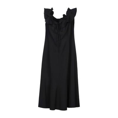 CAROLINA HERRERA 7分丈ワンピース・ドレス ブラック 2 バージンウール 94% / テンセル 5% / ナイロン 1% 7分丈ワン