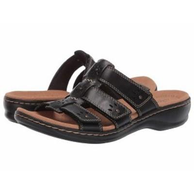 クラークス レディース サンダル シューズ Leisa Spring Black Leather