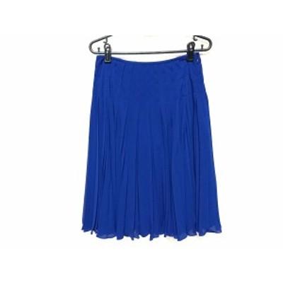 エポカ EPOCA スカート サイズ40 M レディース ブルー プリーツ【還元祭対象】【中古】20200929