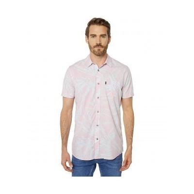 Rip Curl リップカール メンズ 男性用 ファッション ボタンシャツ Glitch Short Sleeve Shirt - Red
