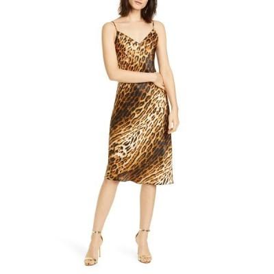 ラジャンス ワンピース トップス レディース Jodie Leopard Print Silk Slipdress Hickory/ Black