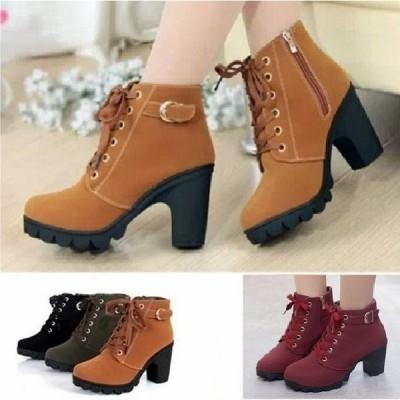 レディースブーツシューズ靴シューズショートブーツレディースローヒール靴カジュアルシューズ歩きやすいレザー美脚xt040
