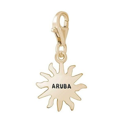 Rembrandt Aruba Sun Small Charm with Lobster Clasp, 14K Yellow Gold並行輸入品 送料