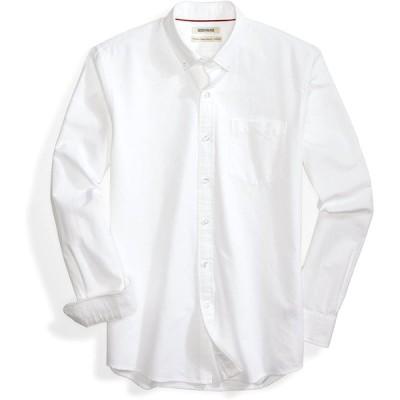 Goodthreads (グッドスレッズ) メンズ パーフェクトオックスフォードシャツ スタンダードフィット 長袖 無地 ホワイト L