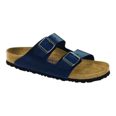 ビルケンシュトック Birkenstock USA メンズ サンダル シューズ・靴 Birkenstock Arizona Soft Footbed Sandal Blue Oiled Leather