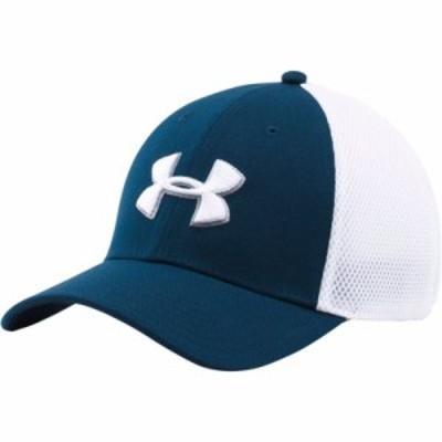 アンダーアーマー ハット Under Armour Mesh Stretch 2.0 Golf Hat Academy/White